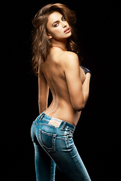 Irina Shayk Replay jeans mainos