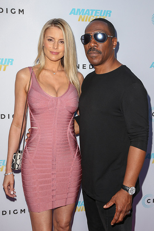 Paige Butcher, Eddie Murphy at Amateur Night Los Angeles Premiere