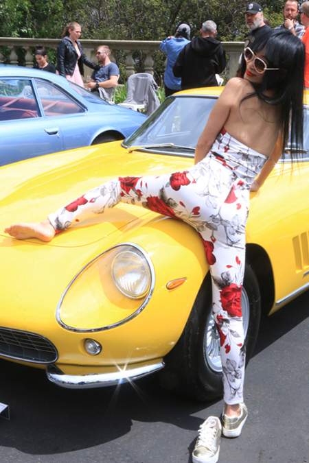 Bai Ling at Greystone Mansion Concours d'Elegance 2017