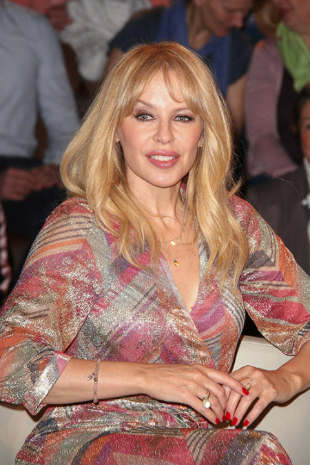 Kylie Minogue Visits the 'Markus Lanz' TV Show in Hamburg