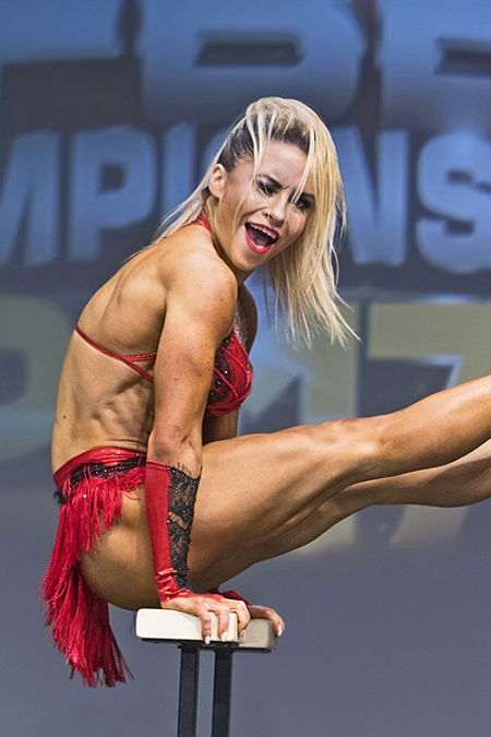 Piia Pajunen at 2017 IFBB Toronto Pro Supershow - Fitness Competition