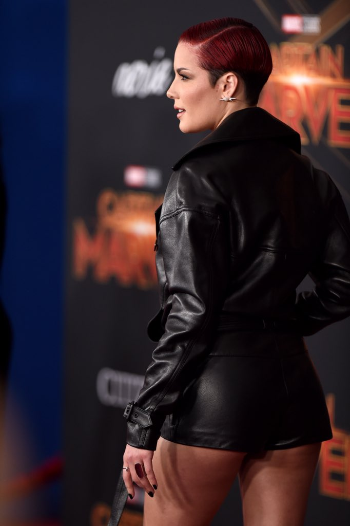 Halsey at Marvel Studios 'Captain Marvel' World Premiere
