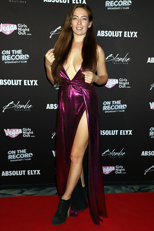 Alanna Pearson at Vegas Girls Night Out Hosts The Ultimate Post-Valentine's Day Soiree 'Single & Mingle'